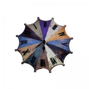 umbrella-clock-multicolour - wall-clocks